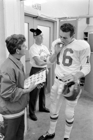 Len Dawson, Quarterback for the Kansas City Chiefs, Smokes a Ciagarette, January 15, 1967