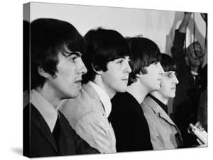 Members of the Beatles During an Interview at Los Angeles International Airport by Bill Ray