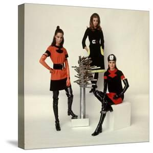 Models Wearing Fashions Designed by Pierre Cardin by Bill Ray