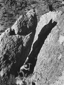 Prospector Travis Marlowe Searching Superstition Mountains of Southern, AZ, for Lost Gold Mine by Bill Ray