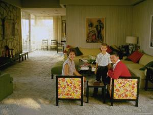 Ronald Reagan Sitting with Wife Nancy and Son Ronnie by Bill Ray