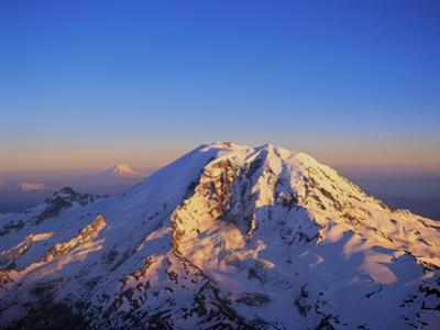Aerial View of Mount Rainier by Bill Ross
