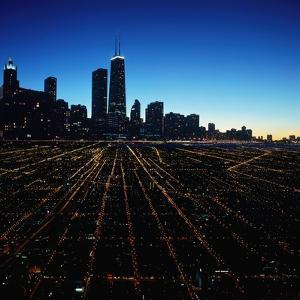 Chicago Skyline at Twilight by Bill Ross