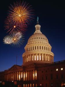 Fireworks over U.S. Capitol by Bill Ross