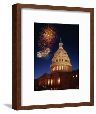 Fireworks over U.S. Capitol