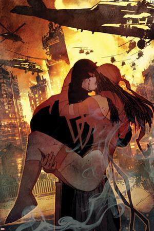 Daredevil No. 7 Cover Art Featuring: Daredevil, Elektra by Bill Sienkiewicz