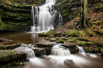 Scaleber Force Waterfall, Yorkshire Dales, Yorkshire, England, United Kingdom, Europe