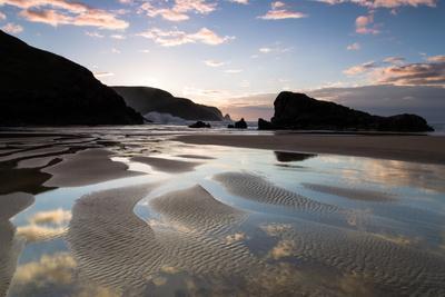 Sunset, Kearvaig Bay, Cape Wrath, Durness, Scotland, United Kingdom, Europe