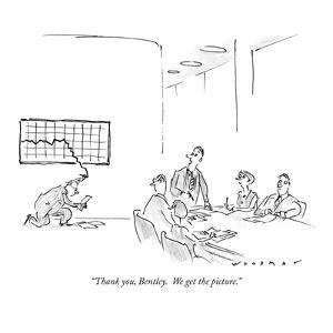 """""""Thank you, Bentley.  We get the picture."""" - New Yorker Cartoon by Bill Woodman"""