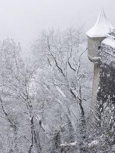 Austria, Salzburg. Part of Salzburg Castle Wall in the Winter by Bill Young