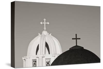 Greece, Santorini. Church Steeples and Crosses