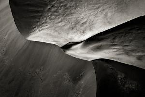 Namibia, Namib Desert. Aerial View of Sand Dunes by Bill Young