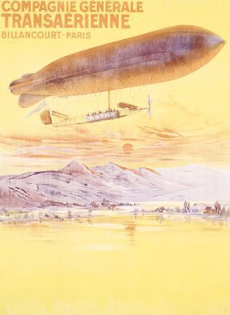 Billancourt to Paris by Dirigible Airship