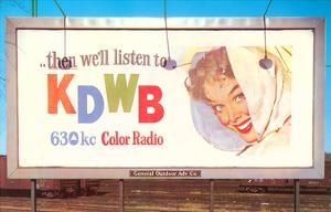 Billboard, Ad for Radio Station, Retro