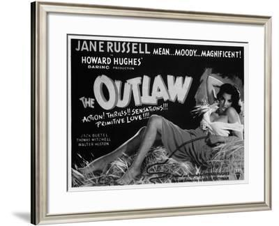 Billboard Advertising the Martin Scorsese's Film the Outlaw-A. Villani-Framed Giclee Print