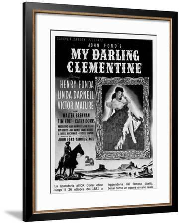 Billboard Advertising the U.S. Film My Darling Clementine-A. Villani-Framed Giclee Print