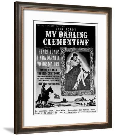 Billboard Advertising the U.S. Film My Darling Clementine-A. Villani-Framed Giclee Print