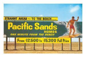 Billboard, Surfer, Beach Homes