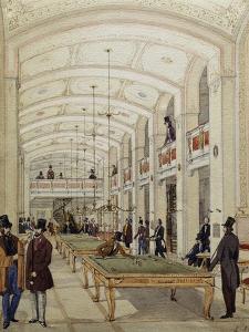 Billiard's Hall in Vienna, Austria, 19th Century