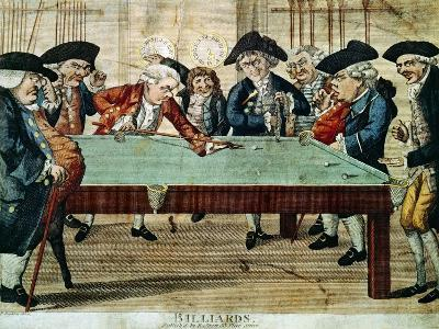 Billiards, 18th Century Etching by R.Sayer--Giclee Print