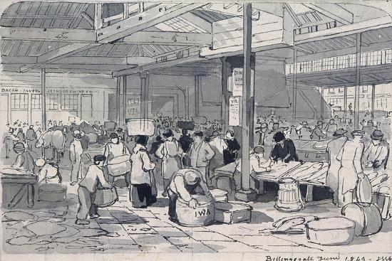 Billingsgate Market, London, 1849--Giclee Print