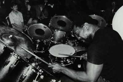 Billy Cobham Conducting a Drum Clinic at the Horseshoe Hotel, London, 1980-Denis Williams-Photographic Print
