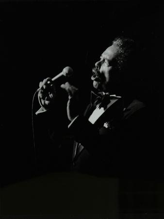 Billy Eckstine in Full Song at the Forum Theatre, Hatfield, Hertfordshire, 12 June 1980-Denis Williams-Photographic Print