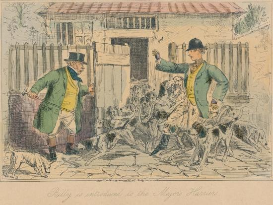 'Billy is introduced to the Major's Harriers', 1858-John Leech-Giclee Print