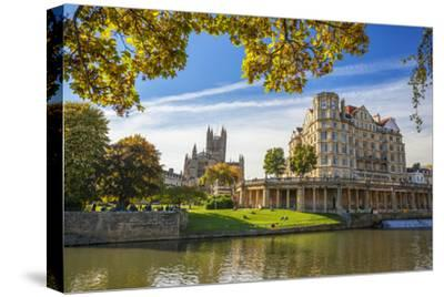 Bath Abbey, Bath, UNESCO World Heritage Site, Avon, Somerset, England, United Kingdom, Europe