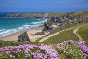 Bedruthan Steps, Newquay, Cornwall, England, United Kingdom by Billy Stock