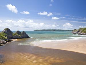 Three Cliffs Bay, Gower, Wales, United Kingdom, Europe by Billy Stock