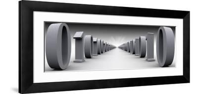 Binary Digits in a Row--Framed Photographic Print