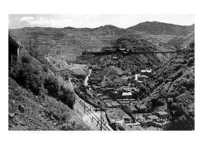 Bingham Canyon, Utah, Aerial View of a Copper Mine-Lantern Press-Art Print