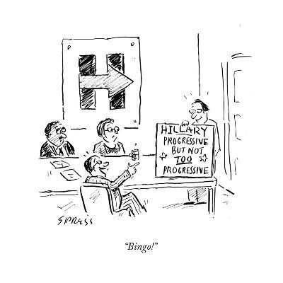 """Bingo!"" - Cartoon-David Sipress-Premium Giclee Print"