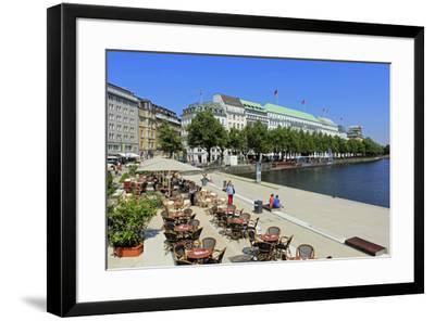 Binnenalster and Hotel Vier Jahreszeiten, Hamburg, Germany, Europe-Hans-Peter Merten-Framed Photographic Print