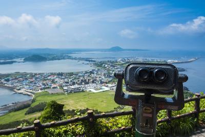 Binoculars on Top of the Ilchulbong Tuff Cone, Sunrise Peak, Jejudo Island, South Korea-Michael Runkel-Photographic Print
