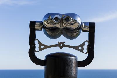 Binoculars Overlooking Mediterranean Sea in Vernazza, Cinque Terre, Italy-Paul Souders-Photographic Print