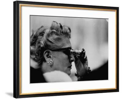 Binoculars Used to Watch Veiled Prophet Ball--Framed Photographic Print