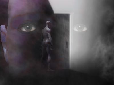 Biomedical Illustration of Self Discovery, Showing a Door Opening Within the Mind-Carol & Mike Werner-Photographic Print
