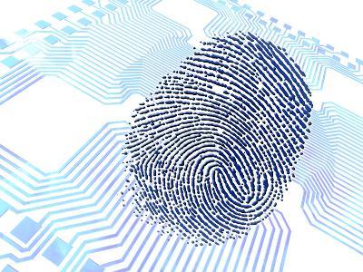 Biometric Fingerprint Scan, Artwork-PASIEKA-Photographic Print