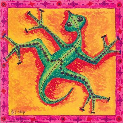 Biotech Lizard-Step-Art Print