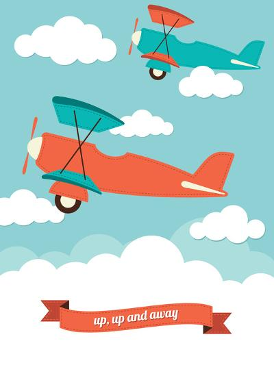Biplane in the Clouds-Rachael Arnott-Art Print