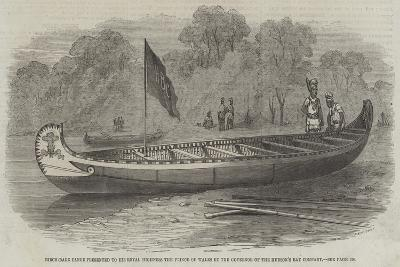 Birch-Bark Canoe Presented to His Royal Highness the Prince of Wales by the Governor of the Hudson'--Giclee Print