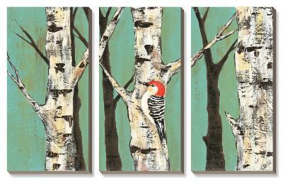 Birch Grove on Teal II-Jade Reynolds-Canvas Art Set
