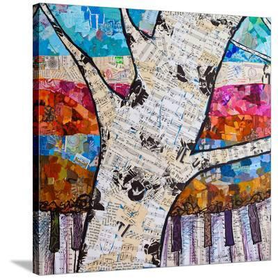 Birch Keys #1--Stretched Canvas Print