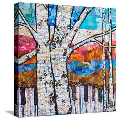 Birch Keys #2--Stretched Canvas Print