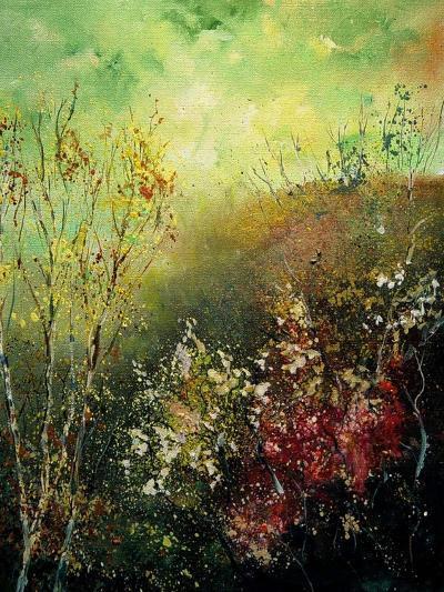 Birch Trees in Fall-Pol Ledent-Art Print
