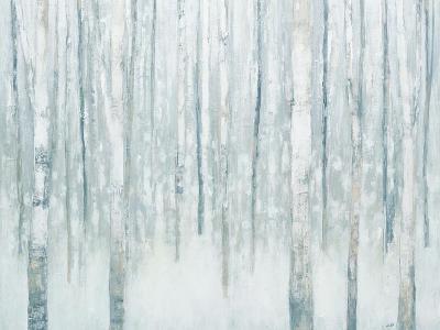 Birches in Winter Blue Gray-Julia Purinton-Art Print