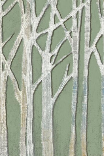 Birchline Triptych II-Jennifer Goldberger-Art Print
