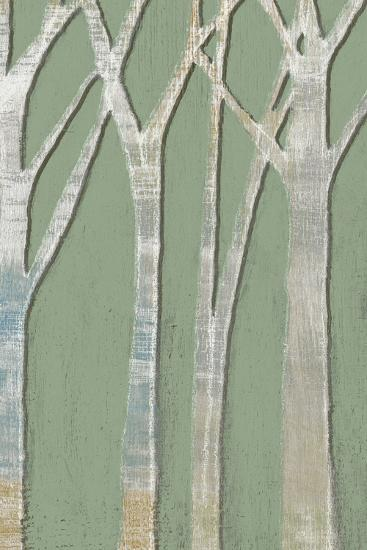Birchline Triptych III-Jennifer Goldberger-Art Print